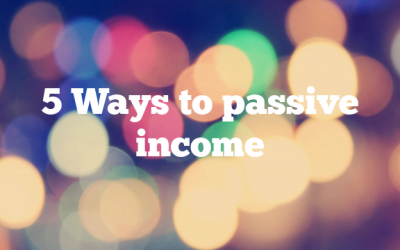 5 Ways to passive income
